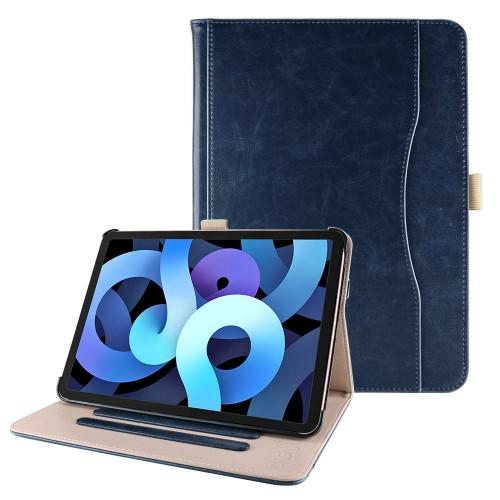 iPad Air 4 10.9 (2020) leren hoes blauw incl. standaard met 3 standen