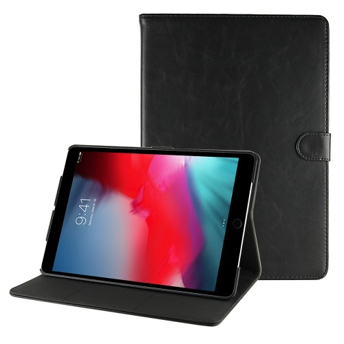 iPad Air 3 10.5 (2019) / iPad Pro 10.5 (2017) leren hoes / case zwart