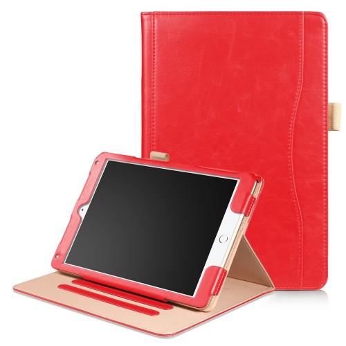 iPad Air 1 / Air 2 / 9.7 (2017) leren case / hoes rood incl. standaard met 3 standen