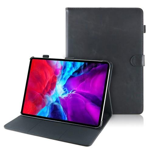 iPad Air 4 10.9 (2020) leren hoes / case zwart