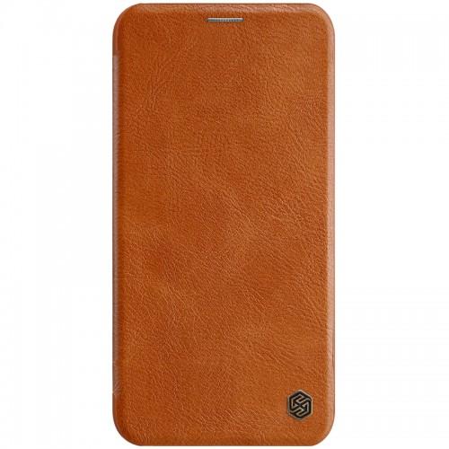Nillkin Qin iPhone 11 Pro leren boekhoesje bruin