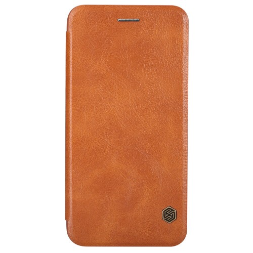 Nillkin Qin iPhone 6 Plus / 6S Plus leren boekhoesje bruin