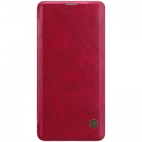 Nillkin Qin Samsung Galaxy S10+ leren boekhoesje rood