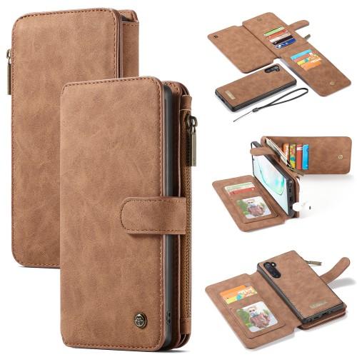 Samsung Galaxy Note 10 Leren portemonnee hoesje met uitneembare telefoon case