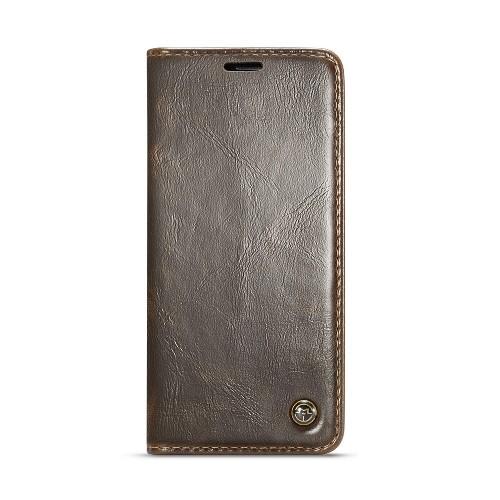 Samsung Galaxy S9 rustiek leren boekhoesje bruin