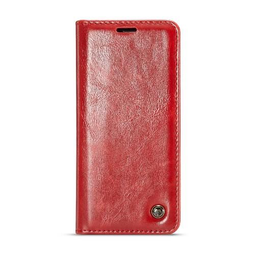 Samsung Galaxy S9 rustiek leren boekhoesje rood
