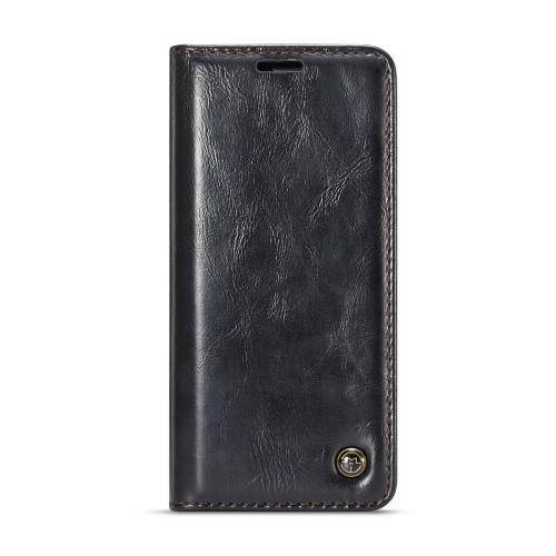 Samsung Galaxy S9 rustiek leren boekhoesje zwart