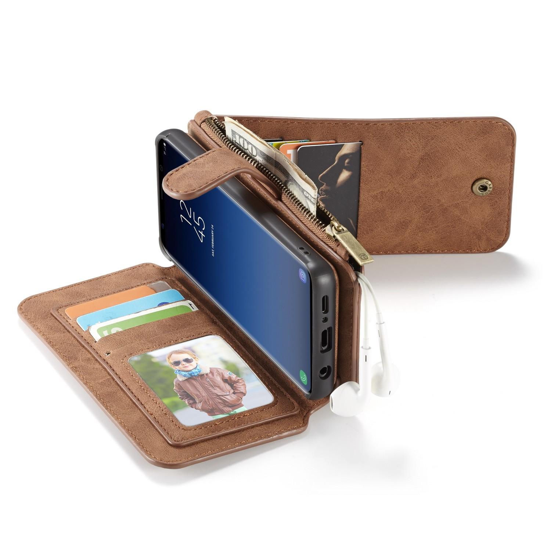 Kalfsleren Portemonnee.Samsung Galaxy S9 Leren Portemonnee Hoesje Met Uitneembare Telefoon