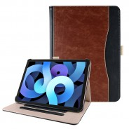 iPad Air 4 10.9 (2020) leren hoes bruin / zwart incl. standaard met 3 standen