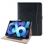 iPad Air 4 10.9 (2020) leren hoes zwart incl. standaard met 3 standen