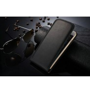Echt leren iPhone 6 Plus / 6S Plus flipcase hoesje zwart