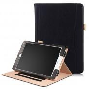 iPad 10.2 (2019 / 2020) / Air 3 10.5 (2019) / Pro 10.5 (2017) leren hoes zwart incl. standaard met 3 standen