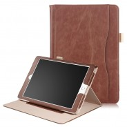 iPad mini 4 / iPad mini 5 leren case / hoes bruin incl. standaard met 3 standen
