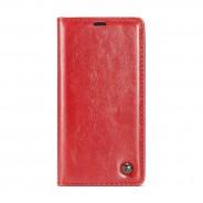 iPhone X / XS rustiek leren boekhoesje rood