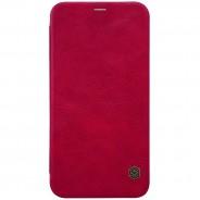 Nillkin Qin iPhone X / XS leren boekhoesje rood