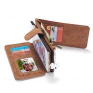 iPhone 6 / 6S Leren portemonnee hoesje met uitneembare telefoon case