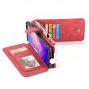 Samsung Galaxy S10 Leren portemonnee hoesje met uitneembare telefoon case rood
