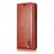 Samsung Galaxy S8+ rustiek leren boekhoesje rood