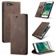 iPhone 7 Plus / 8 Plus zacht vintage hoesje / case met 2 kaarthouders en geldsleuf bruin