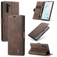 Samsung Galaxy Note 10 zacht vintage hoesje / case met 2 kaarthouders en geldsleuf bruin