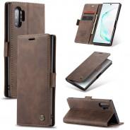Samsung Galaxy Note 10+ zacht vintage hoesje / case met 2 kaarthouders en geldsleuf bruin