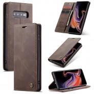 Samsung Galaxy S10+ zacht vintage hoesje / case met 2 kaarthouders en geldsleuf bruin