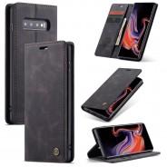 Samsung Galaxy S10+ zacht vintage hoesje / case met 2 kaarthouders en geldsleuf zwart