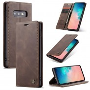 Samsung Galaxy S10e zacht vintage hoesje / case met 2 kaarthouders en geldsleuf bruin