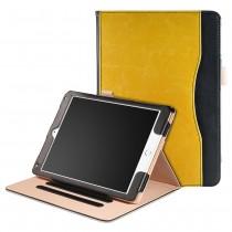 iPad Air 1 / Air 2 / 9.7 (2017 / 2018) leren case / hoes geel - incl. standaard met 3 standen - Oker Geel Zwart