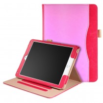 iPad Air 1 / Air 2 / 9.7 (2017 / 2018) leren case / hoes - incl. standaard met 3 standen - Roze Rood