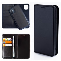 Dasaja leren iPhone 11 hoesje zwart met uitneembare magnetische case