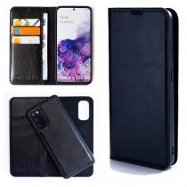 Dasaja leren Samsung Galaxy S20 hoesje zwart met uitneembare magnetische case