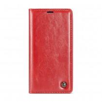Huawei Mate 20 Lite rustiek leren boekhoesje rood