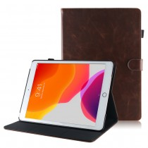 iPad 10.2 (2019 / 2020) leren hoes / case donker bruin
