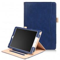 iPad Air 1 / Air 2 / 9.7 (2017) leren case / hoes blauw incl. standaard met 3 standen