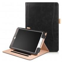 iPad Air 1 / Air 2 / 9.7 (2017) leren case / hoes zwart incl. standaard met 3 standen