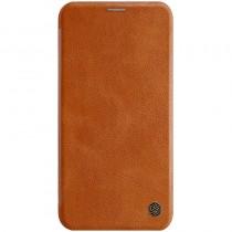 Nillkin Qin iPhone 11 leren boekhoesje bruin