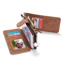 iPhone 6 Plus / 6S Plus Leren portemonnee hoesje met uitneembare telefoon case