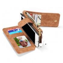 iPhone 7 / 8 / SE 2020 Leren portemonnee hoesje met uitneembare telefoon case