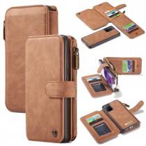 Samsung Galaxy S20+ Leren portemonnee hoesje met uitneembare telefoon case bruin