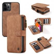 iPhone 12 / 12 Pro (6.1 inch) Leren portemonnee hoesje met uitneembare telefoon case