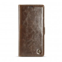 Samsung Galaxy Note 9 rustiek leren boekhoesje bruin