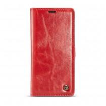 Samsung Galaxy Note 9 rustiek leren boekhoesje rood