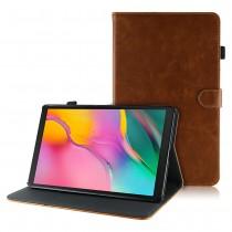 Samsung Galaxy Tab A 10.1 (2019) leren hoes / case bruin