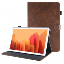 Samsung Galaxy Tab A7 10.4 (2020) leren hoes / case donkerbruin