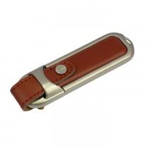 USB-stick echt leer bruin 16GB