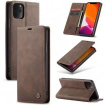 Zacht vintage hoesje / case met 2 kaarthouders en geldsleuf geschikt voor iPhone 11 Pro bruin