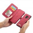 Samsung Galaxy S9 Leren portemonnee hoesje met uitneembare telefoon case rood