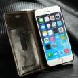 iPhone 6 / 6S rustiek leren boekhoesje bruin
