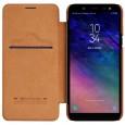 Nillkin Qin Samsung Galaxy A6 (2018) leren boekhoesje bruin